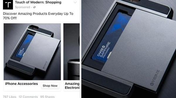 Image: Facebook Shop Now button