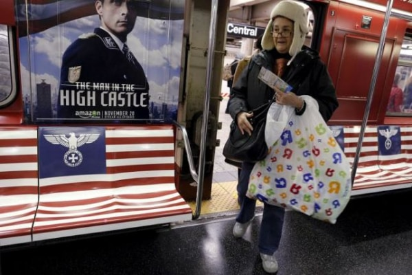 """Image: NYC subway for Amazon series """"The Man in the High Castle"""""""