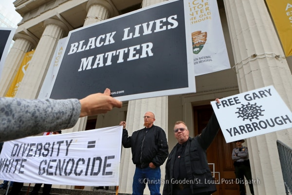 White supremacist rally met with counter protest