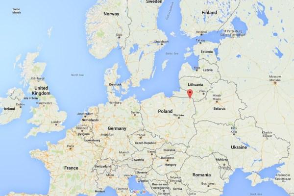 Image: Map showing location of Suwalki Gap