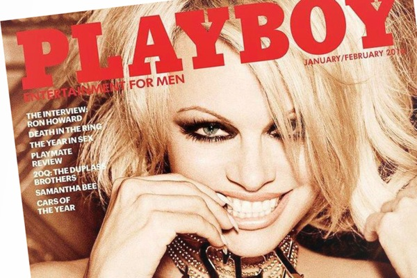 Image: Pamela Anderson appears on the January/February 2016 cover of Playboy