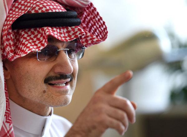 Image: Saudi Arabia's billionaire Prince Alwaleed bin Talal