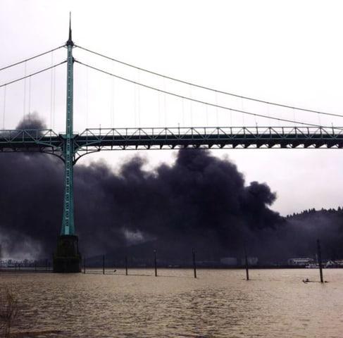 Image: Portland tank car explosion