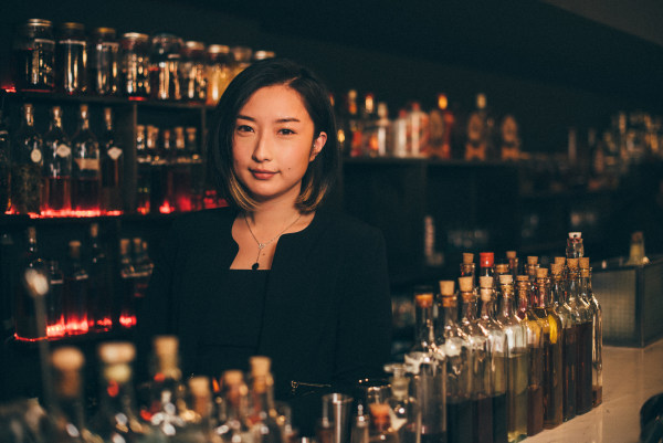 Qifan Li, co-founder of Lumos, at the bar
