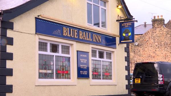 Image: Blue Ball Inn pub in Worrall, England
