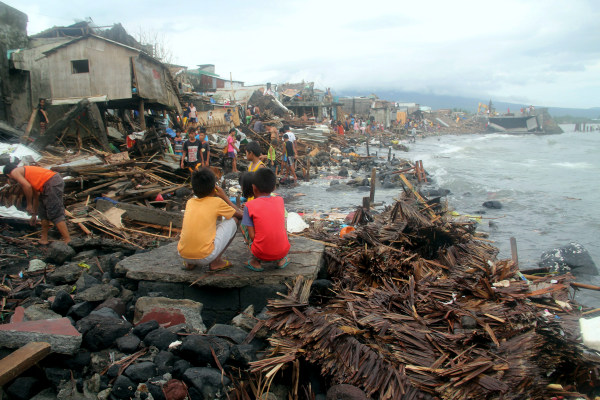 Image: A view of a coastal Pigcale village hit by Typhoon Melor, in Legazpi city, Albay province in the Philippines