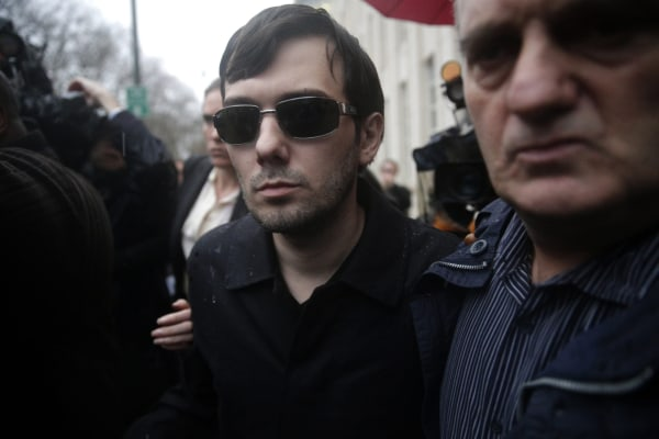Image: Martin  Shkreli charged with defrauding investors