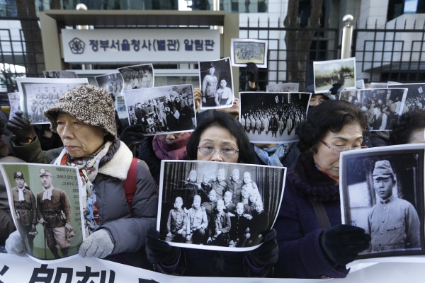 Image: South Korean bereaved family members of victims of World War II