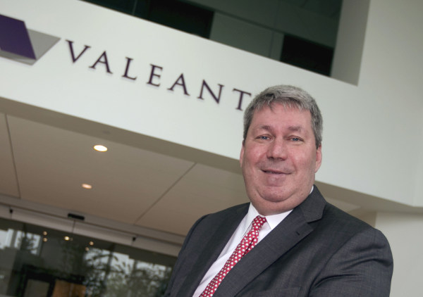 Image: Michael Pearson poses following Valeant Pharmaceuticals annual general meeting in Quebec