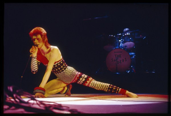 David Bowie performs at a concert