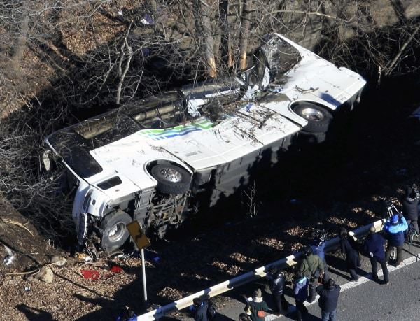 Image: The wreckage of the bus