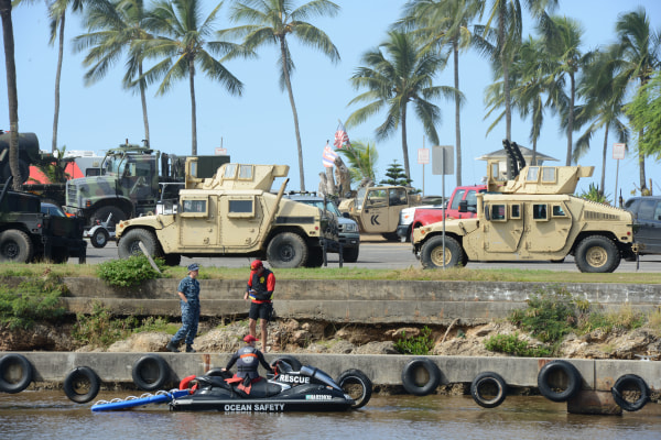 IMAGE: Military search for 12 Marine aviators off North Shore, Oahu