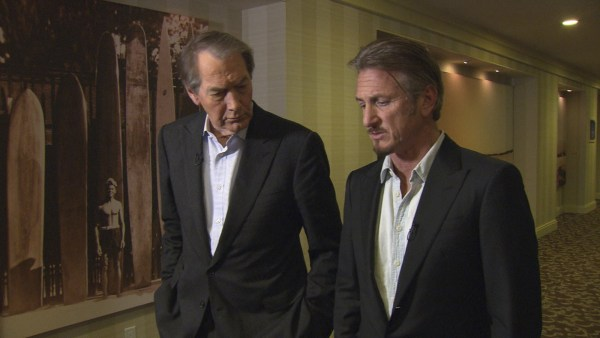"Image: Sean Penn and ""60 Minutes"" host Charlie Rose"