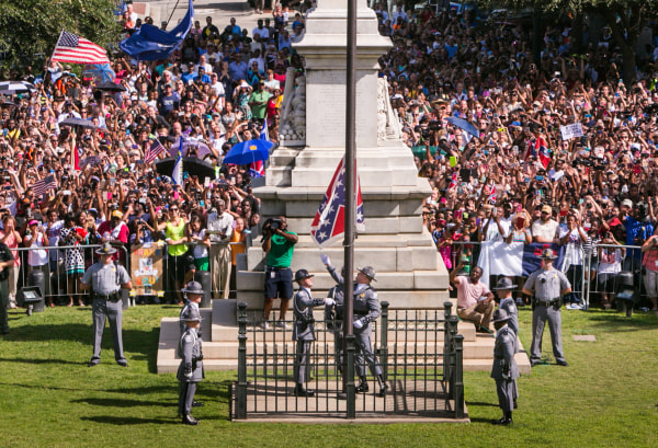 Confederate flag lowered at the S.C. State House for last time