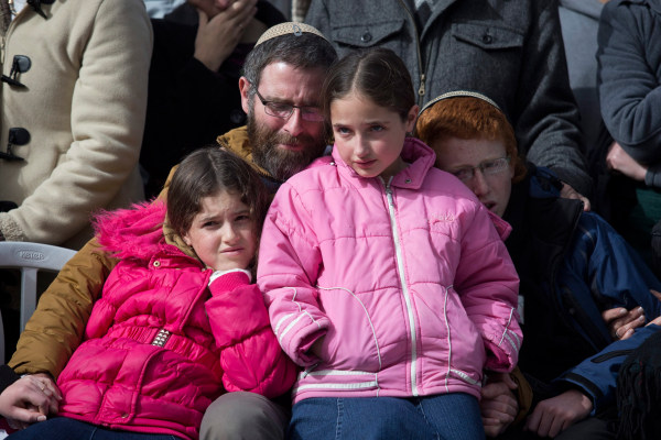 Image: Natan Meir and his children.