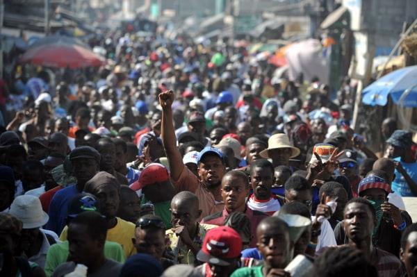 Image: Haiti protest