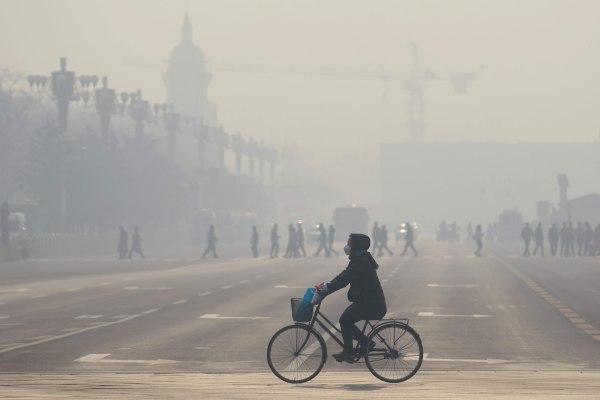 Image: Smog in Beijing on Dec. 21, 2015