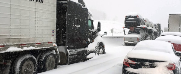 IMAGE: Traffic stranded on Pennsylvania Turnpike