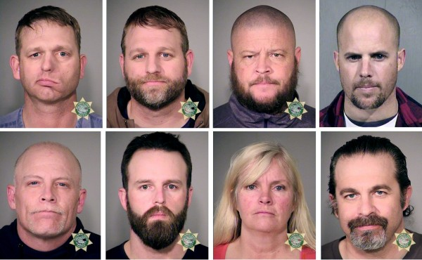 Image: Inmates are seen in police jail booking photos released in Oregon and Arizona