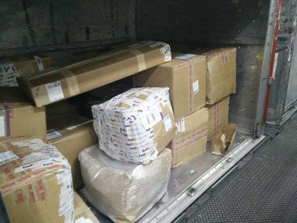 Image: Packages at Charles de Gaulle