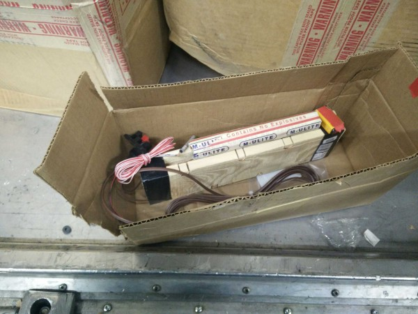 Image: Device found by FedEx workers