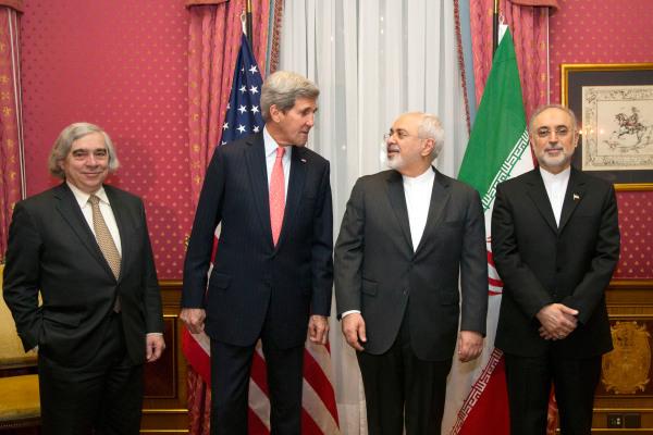 Image: Ernest Moniz, John Kerry, Mohammad Javad Zarif, Ali Akbar Salehi