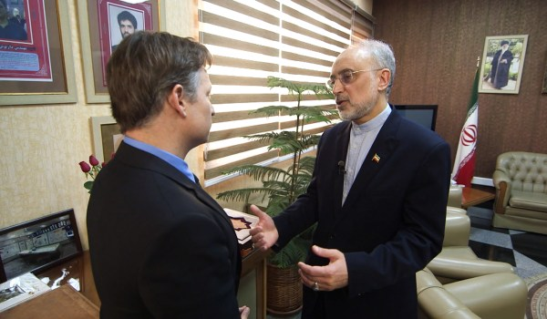 Image: Ali Akbar Salehi talks to NBC's Richard Engel