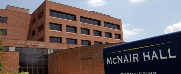 Image: McNair Hall in North Carolina A&T State University