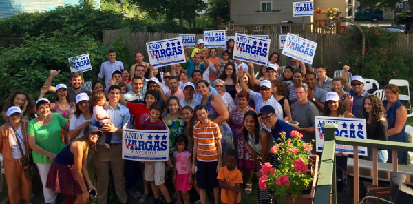 Andy Vargas's campaign kickoff event.