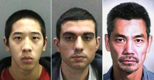 Image: Orange County inmates Jonathan Tieu, Hossein Nayeri and Bac Duong