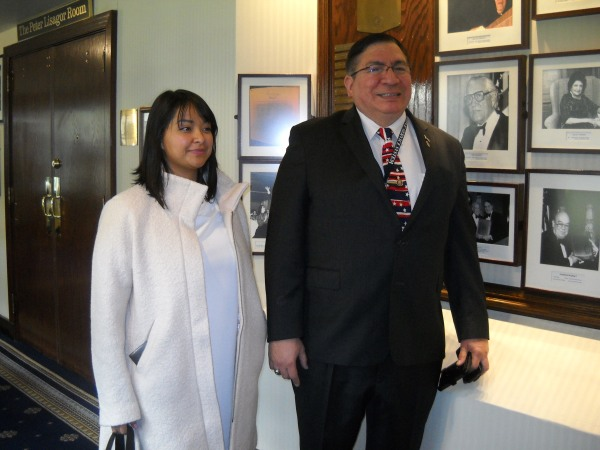 Janet Chavez and Lawrence Romo at the National Press Club.