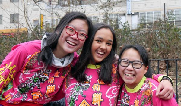 Image: New York United Lion and Dragon Dance Troupe Laura Feng, Tegan Gallina, Emily Zheng