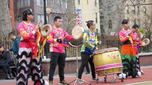 Image: New York United Lion and Dragon Dance Troupe - musical instruments