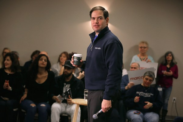 Image: Republican Presidential Candidate Sen. Marco Rubio (R-FL) Campaigns In New Hampshire