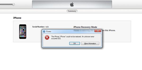 Image: Iphone Error