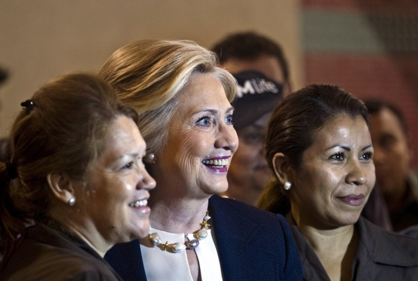 Image: File photo of Hillary Clinton arriving at the NALEO conference in Las Vegas, Nevada.