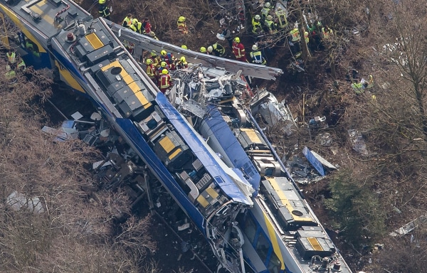 Image: Aerial Train Crash Germany