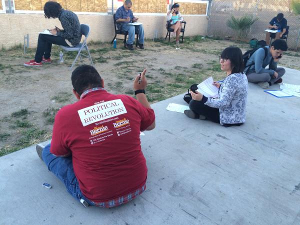 Image: Young Latinos Caucus Nevada for Bernie