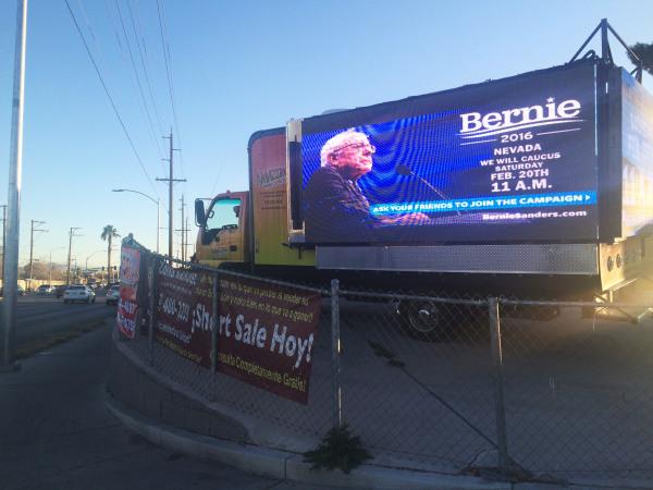 Image:Truck in Nevada Caucus for Bernie