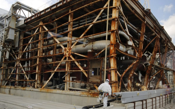 Image: The No. 3 reactor building at the Fukushima Daiichi nuclear power plant