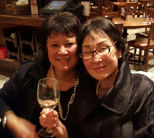 Sarah Savidakis, left, and Katherine Kim, president and secretary of 325Kamra, respectively.