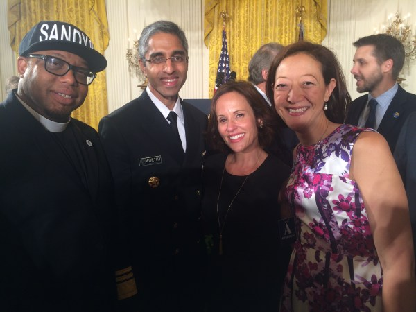 Andrianna Quintero at the White House for the announcement of President Obama's Clean Power Plan.