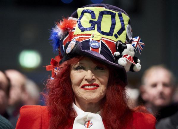 """Image: A pro-""""Brexit"""" campaigner"""