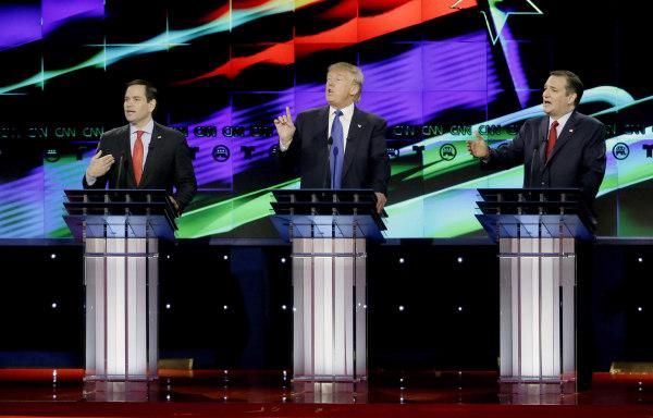 Image: Marco Rubio, Donald Trump, Ted Cruz