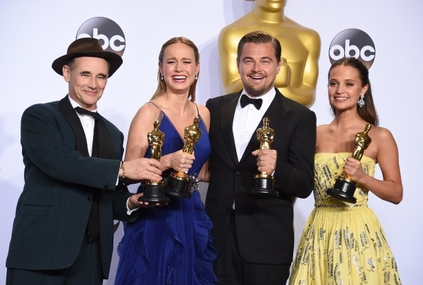 Image: Mark Rylance, Brie Larson, Leonardo DiCaprio, Alicia Vikander