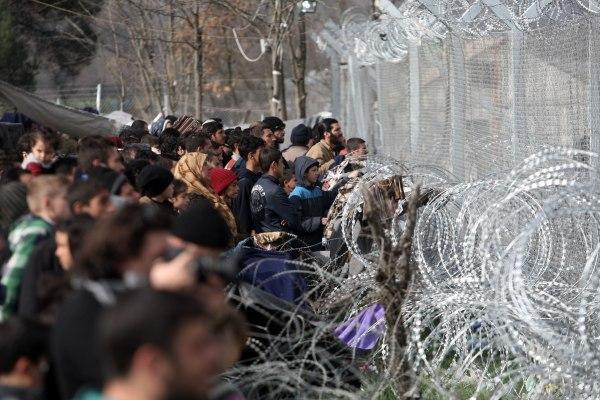 Image: Migrants in Idomeni, Greece