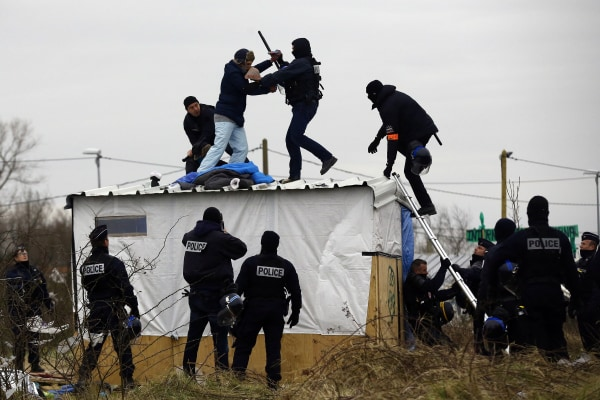 Image: Destruction Of Calais Jungle Camp Continues