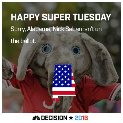 Happy Super Tuesday Alabama!