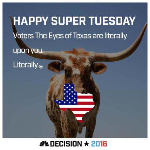 Happy Super Tuesday Texas!