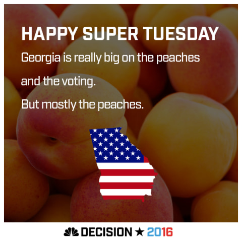 Happy Super Tuesday Georgia!